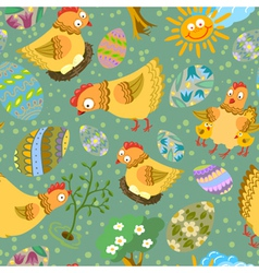 cute color easter seamless vector image