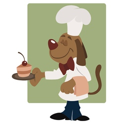 elegant dog waiter vector image vector image