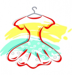 frock with hanger vector image vector image