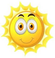 Happy face on the sun vector image