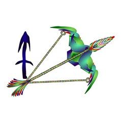Sagittarius horoscope vector image