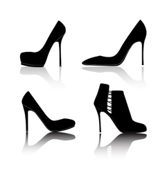 Shoes Silhouette on White Background vector image vector image