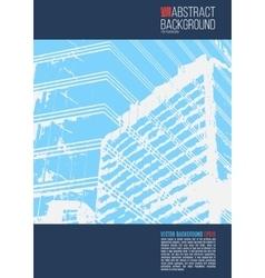 Blue annual report Leaflet Brochure Flyer template vector image