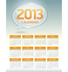 Calendar template vector image vector image