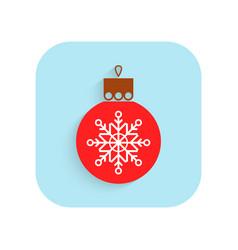 christmas tree ball flat icon holiday symbol vector image