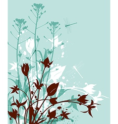 Decorative nature green background vector image