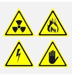 labels set biological threats radiation vector image vector image