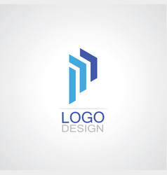 letter m building company logo vector image vector image