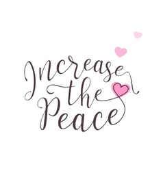 peace lettering design vector image