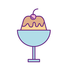 sweet pudding isolated icon vector image