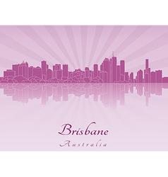 Brisbane skyline in purple radiant orchid vector image