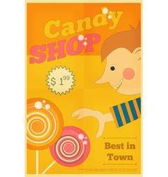candy shop boy vector image vector image
