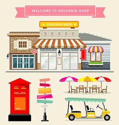 Souvenir shop collections concepts design vector image vector image