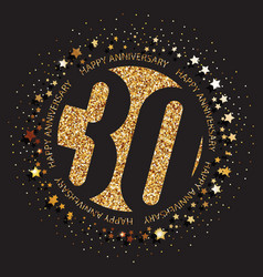 30th birthday logo vector image