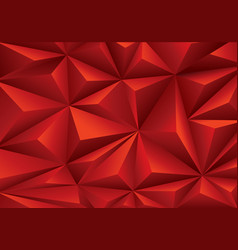 Abstract red triangle polygon pattern background vector