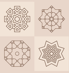 abstract symmetric geometric shapes symbols for vector image