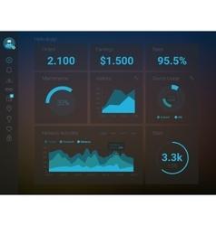 Admin App Dashboard vector image