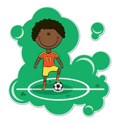 African-American soccer player vector image