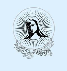 Ave Maria vector
