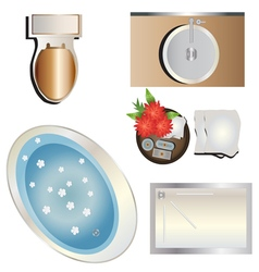 Bathroom top view set 6 for interior vector image