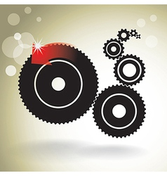 black cogs vector image