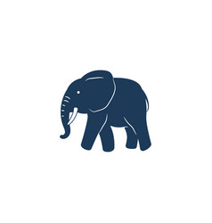 blue elephant isolated vector image