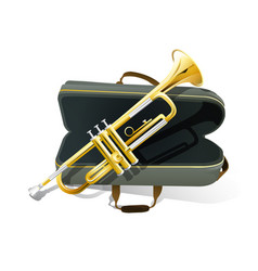 Brass trumpet icon philharmonic orchestra vector