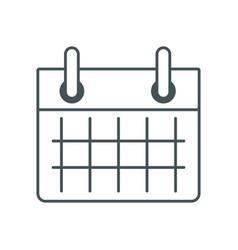 Calendar event sheet vector