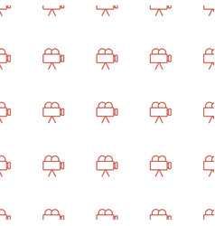 camera icon pattern seamless white background vector image