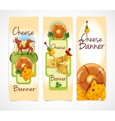 Cheese banners vertical vector