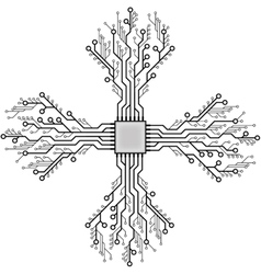 Circuit board cpu vector image