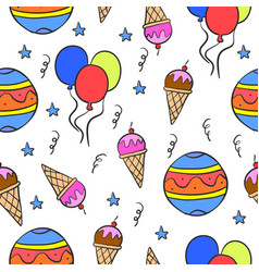 Collection stock circus cute doodles vector