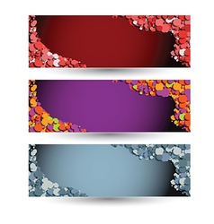 colored horizontal banners vector image