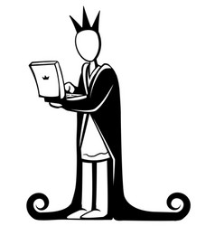 Computer king vector