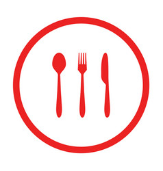 Cutlery and circle vector