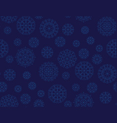 Dark blue repeatable motif for wrapping paper vector