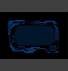 dark blue technology futuristic hud display vector image