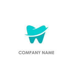 Dental tooth logo vector