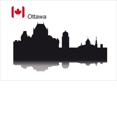 Detailed silhouette city of Ottawa vector image