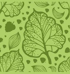 doodle leaf pattern vector image