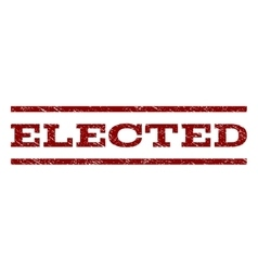 Elected Watermark Stamp vector image