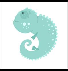 flat style iguana icon for web isolated on vector image
