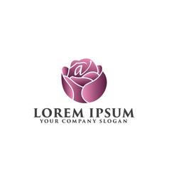 flower logo spa and esthetics logo design concept vector image