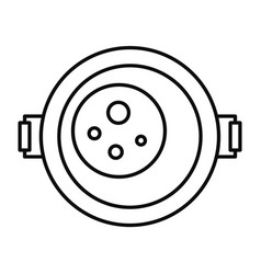 food cooking pan icon outline style vector image