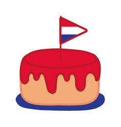 France flag in cake hand draw style icon vector