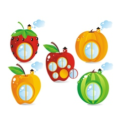 Fruitberry small houses vector