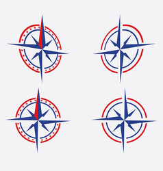 Geography science compass sign icon vector