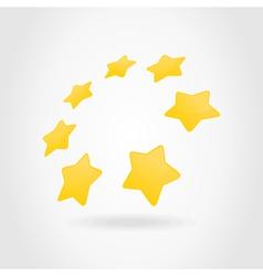 gold star circle vector image
