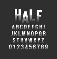 halftone alphabet font template vector image