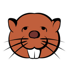 Head of beaver icon cartoon vector